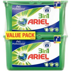 Ariel Lessive 3 en 1 Pods Régulier 2 x 42 doses