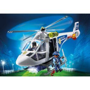 Playmobil 6921 City Action - Hélicoptère de Police avec projecteur de recherche