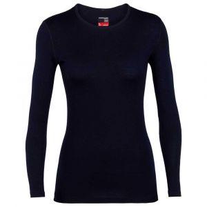 Icebreaker 260 Tech T-shirt manches longues à col ras-du-cou Femme, midnight navy L T-shirts manches longues