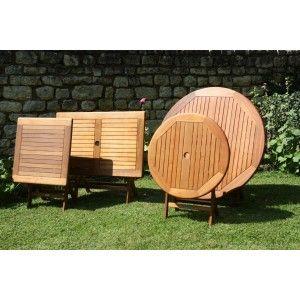 Proloisirs Sophie 120 - Table de jardin ronde en eucalyptus FSC Ø120 cm