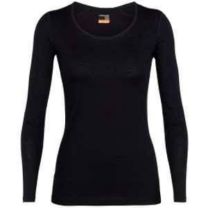 Icebreaker Wmns 200 Oasis LS Scoop Black Sous-vêtements techniques