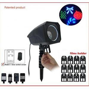 Projecteur laser à films avec télécommande Multicouleur 4 LED