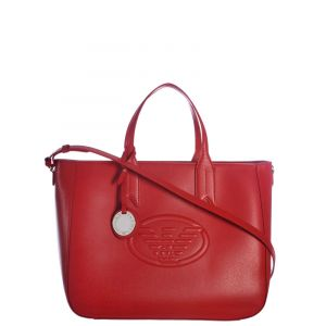 Emporio Armani Sac Porté Main Frida Eagle Rouge