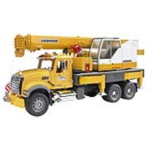 Bruder Toys 2818 - Camion Mack avec grue Liebherr intégrée