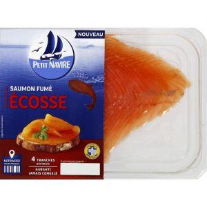 Petit Navire Saumon fume ecosse 4t mini - Le paquet de 120g
