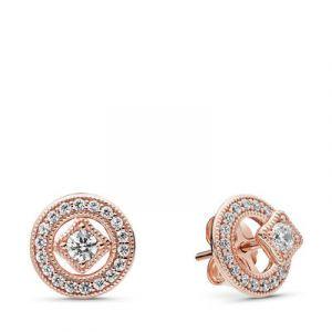 Pandora Boucles d'oreilles 280721CZ - Boucles d'oreilles Élégance Vintage Rose Femme