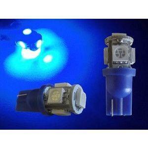 2 Ampoules 5 LEDS AUTOLED T10 Bleu
