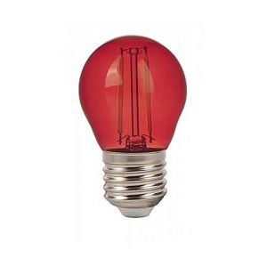 V-TAC VT-2132 Bulb mini globe LED E27 2W G45 filament smd rouge colored glass - SKU 7413