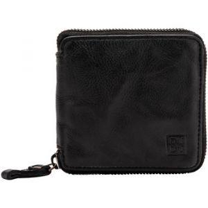 Dudu Portefeuille homme avec fermeture en cuir vintage zip sur 3 côtés avec porte-monnaie et emplacement cartes Black Slate