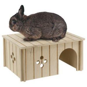 Ferplast Sin 4646 - Maison en bois pour lapins