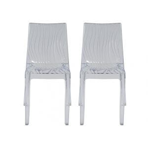 Palmariva - 2 chaises empilables en polycarbonate