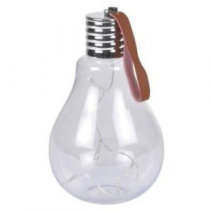 Ampoule a suspendre 11,5x11,5x20cm - Blanc - Ampoule à suspendre 5 Leds - En acrylique - Dimensions : 11,5x11,5x20cm - Coloris : blanc.