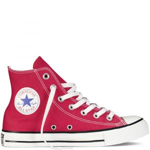 Converse Chaussures casual unisexes Chuck Taylor All Star Hautes Toile Rouge - Taille 41,5
