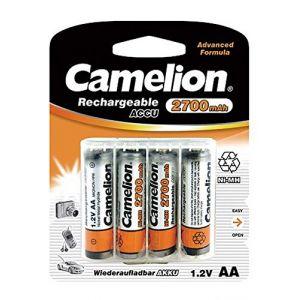 Camelion 4 piles rechargeables AA / LR6 NiMH 2700mAh