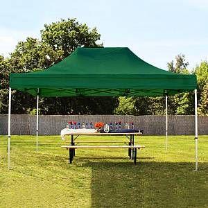 Intent24 Tente pliante 3x4,5 m sans bâches de côté vert fonce PROFESSIONAL tente pliable ALU pavillon barnum.FR