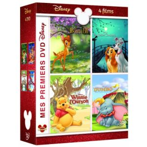 Coffret Bambi + Dumbo + La belle et le clochard + Winnie l'Ourson