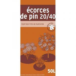 Ecorces de pin 20/40 en sac de 50 litres