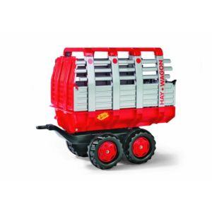 Rolly Toys Remorque à foin 2 essieux pour tracteur à pédales