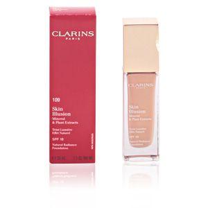 Image de Clarins Skin Illusion 109 Wheat - Teint lumière effet naturel SPF 10