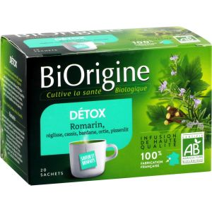 Laboratoires Vitarmonyl Infusion Bio Détox Biorigine - Les 20 Sachets De 1,75 G