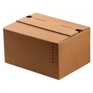 ColomPac Caisse carton à fond automatique hauteur variable et fermeture autocollante - L30,4 x H de 13 à 22 x P21,6 cm