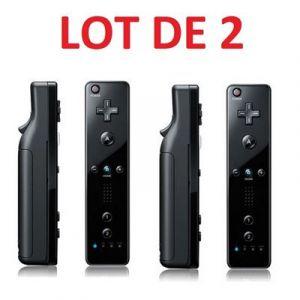Nintendo 2 X Télécommande Wiimote pour Wii et Wii U - Noir