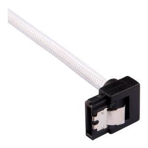 Corsair Câble SATA gainé Premium 60 cm connecteur coudé (coloris blanc)