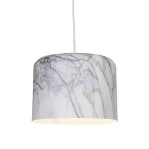 Brilliant AG Suspension dôme en métal aspect marbre gris et blanc MARBLE