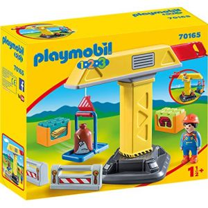 Playmobil 70165 - Grue de chantier 1.2.3
