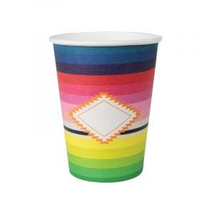 10 Gobelets en carton Mexique Taille Unique