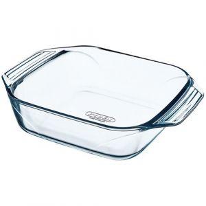 Pyrex Plat carré + poignées L : 29 x 23 cm Optimum - verre - Terrine, Plat à four