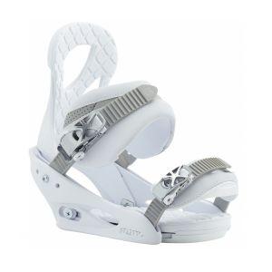 Burton Snowboard Fixation de snowboard stiletto blanca
