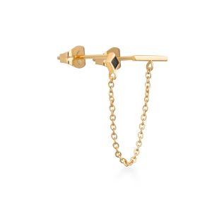 Rosefield Boucles d'oreilles JDTBG-J060 - Collection IGGY Double doré jaune Laiton