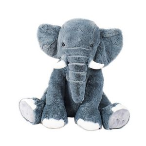 Soft Friends Éléphant gris-bleu assis 78 cm