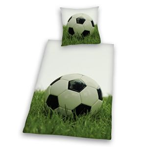 Herding Football - Housse de couette linon et taie (135 x 200 cm)