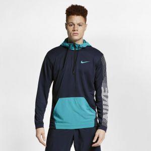 Nike Sweat à capuche de training en tissu Fleece Dri-FIT pour Homme - Bleu - Taille 2XL