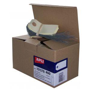 APLI 101578 Lot de 400 Etiquettes américaines avec Fil de fer 80 x 38 mm