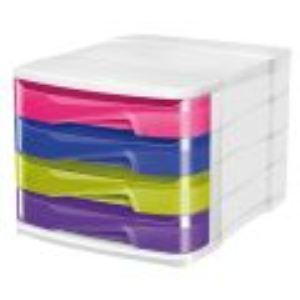 CEP Office Solutions Module de classement Cep Box Happy 4 tiroirs (A4)