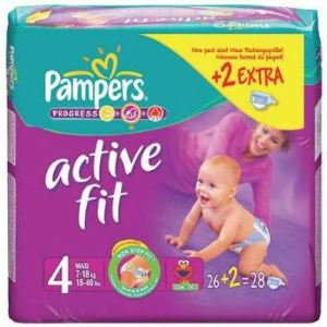 Pampers Active Fit taille 4 Maxi 7-18 kg - 24 couches