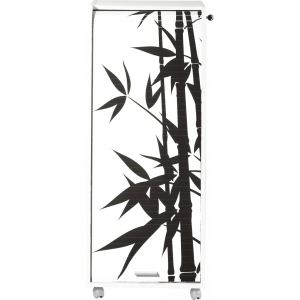 Caisson de bureau à rideau imprimé Bambou 3 tiroirs
