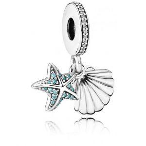 Pandora Charm 792076CZF - Charm étoile de Mer et Coquillage Tropicaux Femme