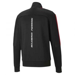 Puma Blouson de survêtement Scuderia Ferrari Race T7 pour Homme, Noir, Taille M, Vêtements