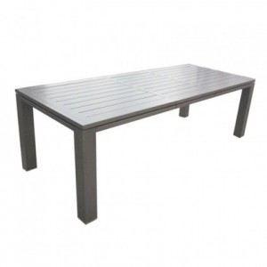Océo Table de jardin rectangulaire Latino en aluminium 180/240 x 98 ...