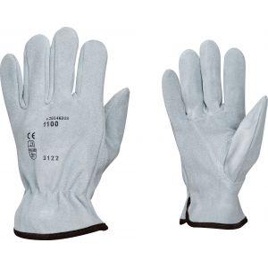 Outibat Gants de protection maîtrise cuir croûte de vachette - Taille 9