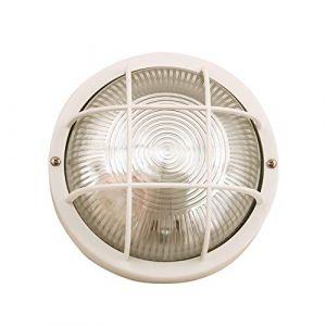 Velamp Plafonnier D'exterieur - BUBBLE: hublot rond en verre et plastique. E27 max 60W - Blanc