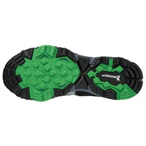 Mizuno Wave Mujin 5, Sneakers Basses Homme, Multicolore (Omblue/Silv/Poison Green 001), 45 EU