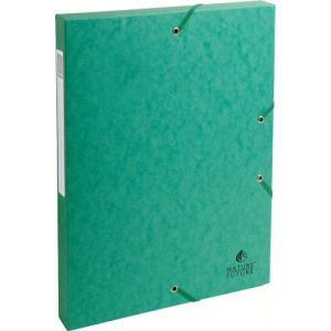 Exacompta 50303E - Boîte à élastique EXABOX, carte lustrée, dos de 25, coloris vert