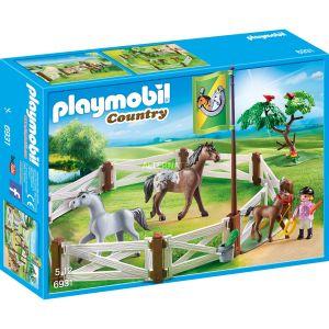 Playmobil 6931 Country - Enclos avec Chevaux