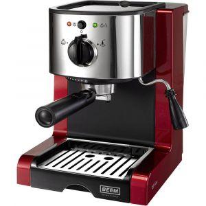 Beem 02051 Espresso Perfect   Machine à expresso pour poudre & Pads (1350 W, 15 Bars)   Expresso, cappuccino, latte macchiato, XXL-Crema, Café Lungo   Rouge Brillant