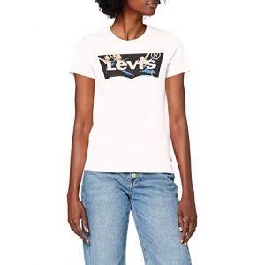 Levi's The Perfect Tee T-Shirt - Femme-Blanc (Floral Filled Batwing White+ 0794)-Large